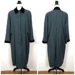 Vintage London Fog Emerald Green Trench Coat